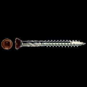 Skrutka do tvrdého dreva štvorhranná drážka Hnedá hlava
